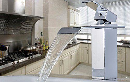 Auralum® Design Robinet mitigeur salles de bain bassin lavabo Chrome Size A: Cartouche à disque céramique Un design exclusif et un travail…