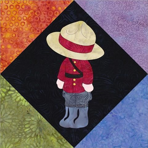 (7) Name: 'Quilting : Sunbonnet Sam In Canada (2016 BOTM)
