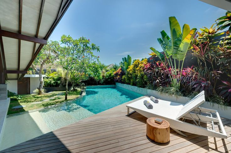 Poolside at our one bedroom private pool villa