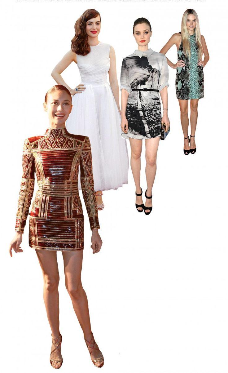 Dressed to Thrill - From left: Olga Kurylenko, Louise Bourgin, Bella Heathcote, Gabriela Wilde