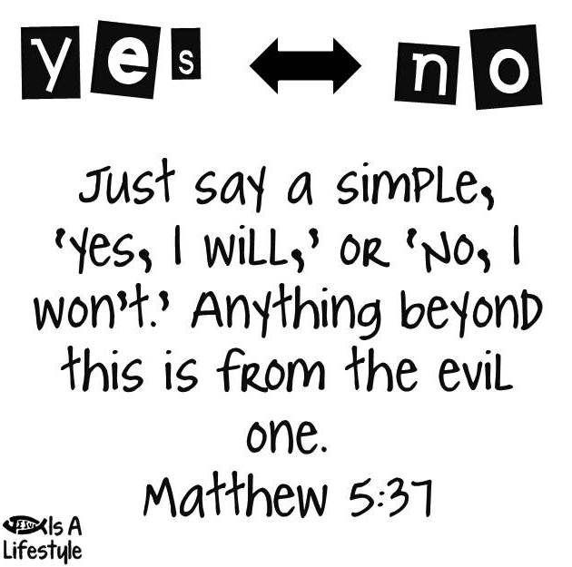 Matthew 5:37 facebook.com/donttakethemark
