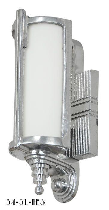 Vintage Hardware & Lighting - Art Deco Streamline Modern Wall Sconces Lights Lighting Fixtures (34-SL-NES)