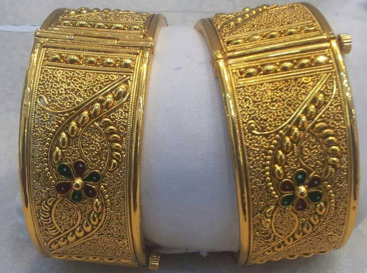 Indian Bangles Bracelet Kada Set Goldtone Designer Women Fashion Jewelry 2.6,2.8 #Handmade #Bangle