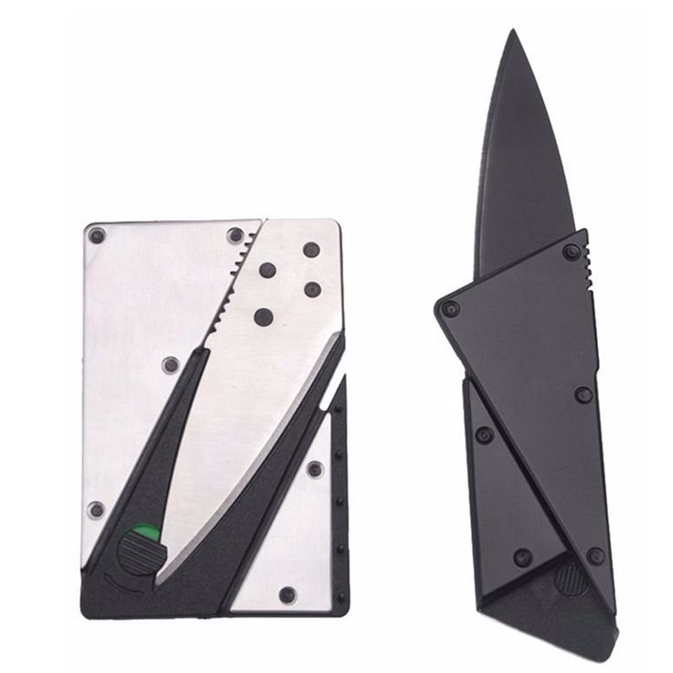 Credit card knife mini wallet outdoor pocket knife Hunting camping kitchen hand tool knife sharp portablesurvival folding knife
