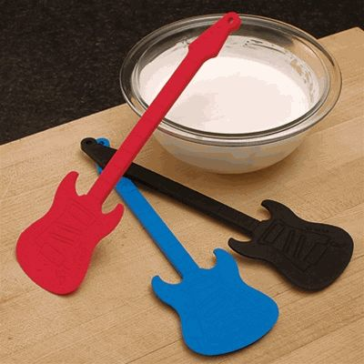 Guitar Kitchen Scraper - Goes great with the Guitar Spatula and comes in red, blue, and black.