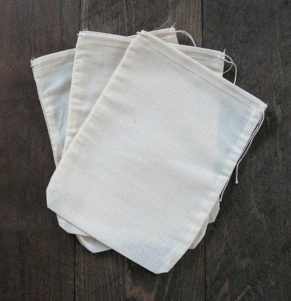 1849cd6c8559 25 6x8 Natural Cotton Muslin Drawstring Bags in 2019   Products ...