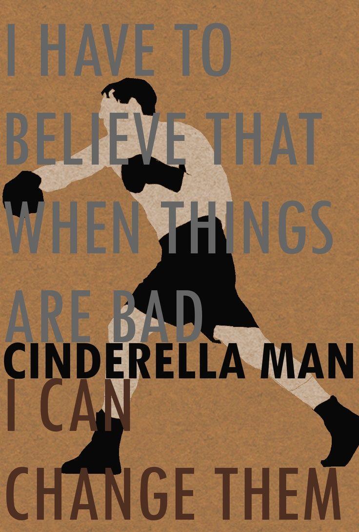 Cinderella Man Minimalist Poster Happy Quotes Smile New Quotes Best Quotes
