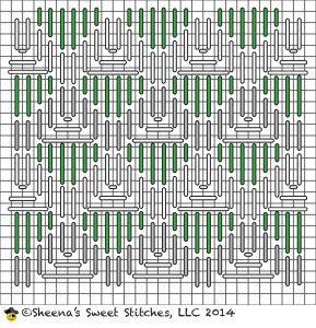 Combination Lattice Stitch