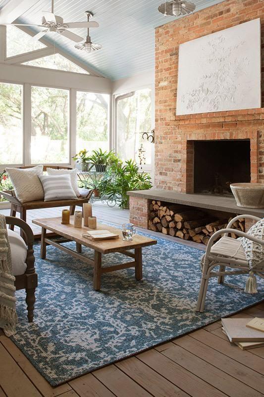 Joanna Gaines Warwick Wk 03 Azure Grey Nw Rugs Furniture
