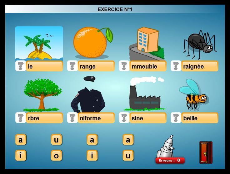 Dans la section « Jeux éducatifs et d'éveil », on trouve de petits exercices interactifs simples pour les premiers pas en lecture.