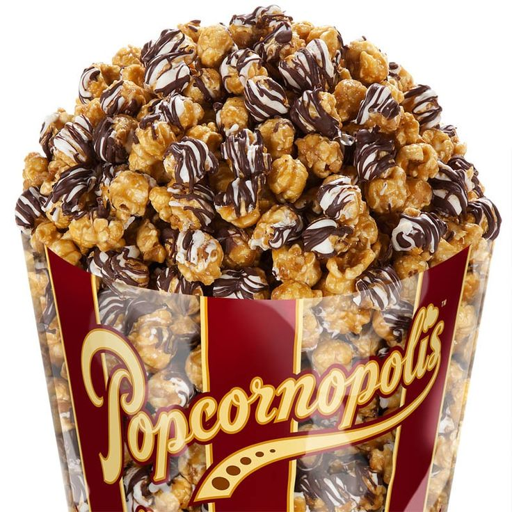 Zebra chocolate popcorn. Also known as crack popcorn... You have no idea how addicting this is.