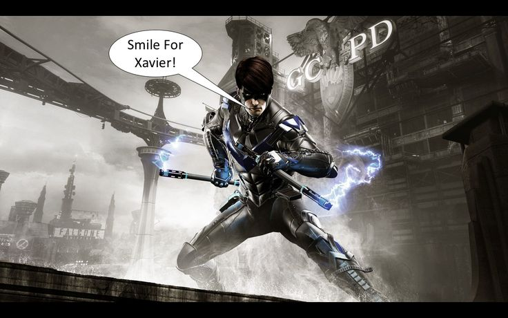 Smile For Xavier! Nightwing