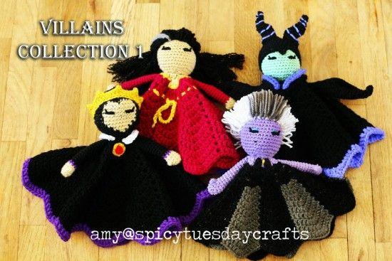Villains Lovey Blankets Crochet Patterns