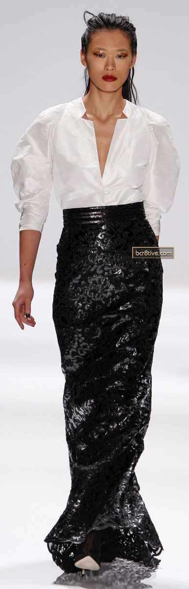 pretty skirt      Carmen Marc Valvo FW 2013-14 NYFW