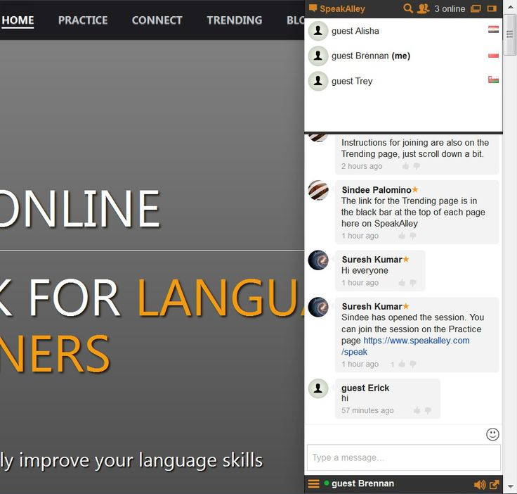 A community for learning and practicing foreign languages.