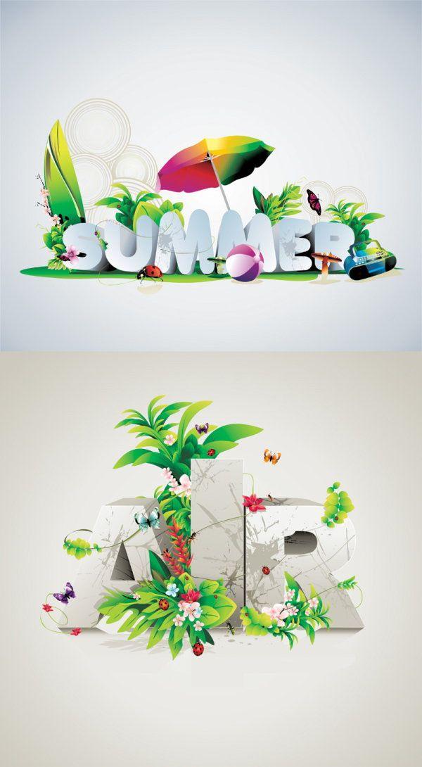 Poster font design vector graphics download