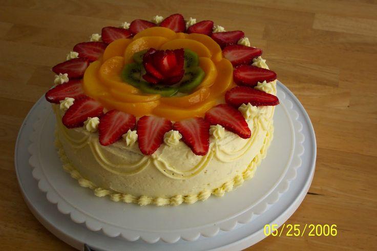 25 Best Fruit Cake Decorating Ideas On Pinterest