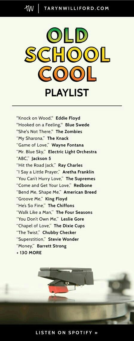 Old School Song List Cool Summer Life