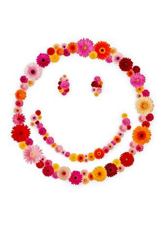 Een bloemige smiley.