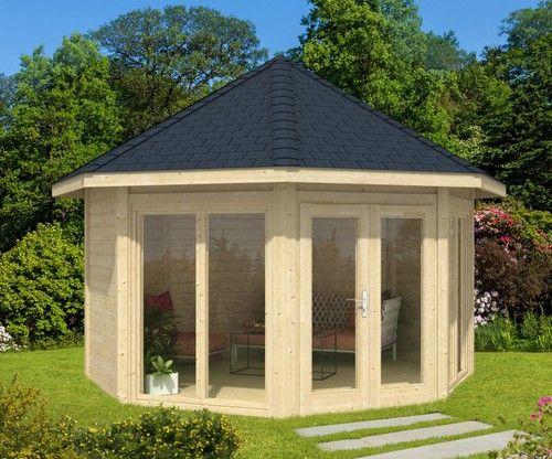 Cool Gartenpavillon Modell Sylt mit zwei Fenstern