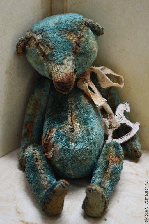 Lost Bear.... - мишка, мишка тедди, голубой, мишка ручной работы / vintage handmade teddy bear