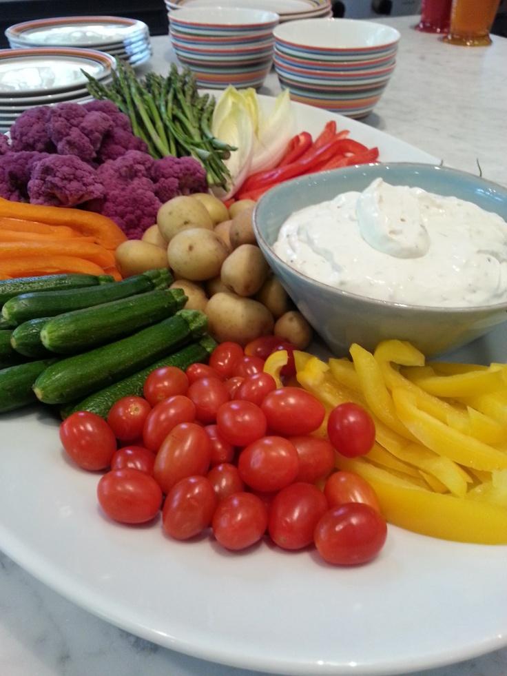 Rainbow Vegetable Platter