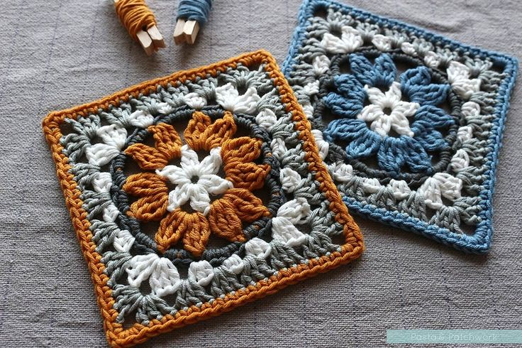 """Anemone"" Granny Square - Free Pattern & Photo Tutorial - Pasta & Patchwork ༺✿ƬⱤღ https://www.pinterest.com/teretegui/✿༻"