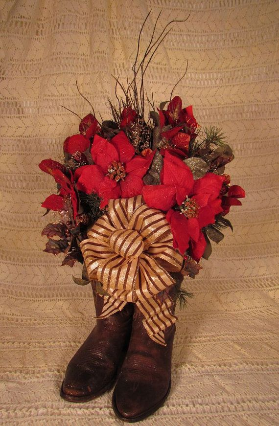 27 best Country cowboy Christmas centerpieces images on Pinterest - western christmas decorations