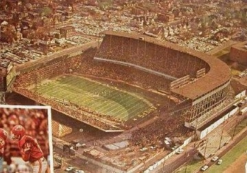 Old Municipal Stadium in Kansas City, MO, home of the KC Chiefs and Royals until 1972 when the Truman Sports Complex opened.