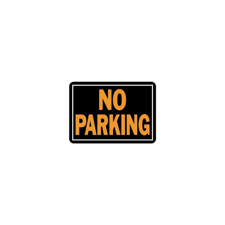 Hy-Ko 10X14 No Parking Sign, Silver aluminum