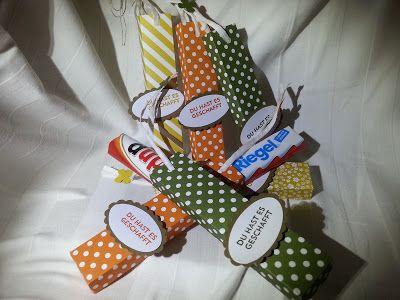 Kinderschokolade gut Verpackt; Stampin up