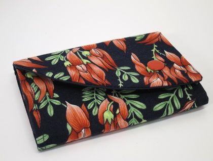 Compact Wallet - Kakabeak/kowhai ngutukaka