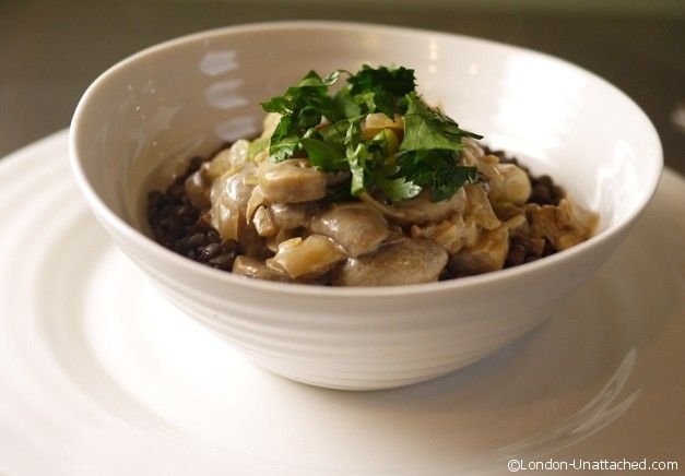 Mushroom stroganoff a 5:2 fast day diet recipe with 193 calories per serving including a helping of lentils. A balanced 5:2 diet recipe to help you feel full for longer