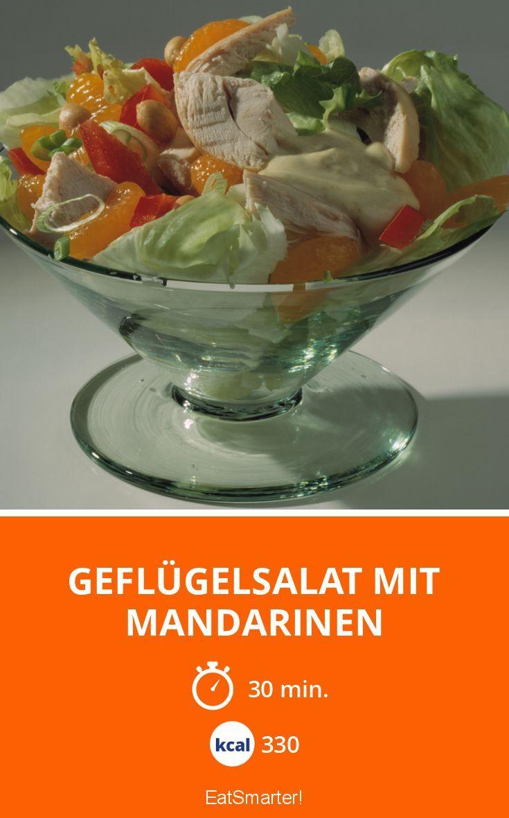 Geflügelsalat mit Mandarinen - smarter - Kalorien: 330 kcal - Zeit: 30 Min. | eatsmarter.de