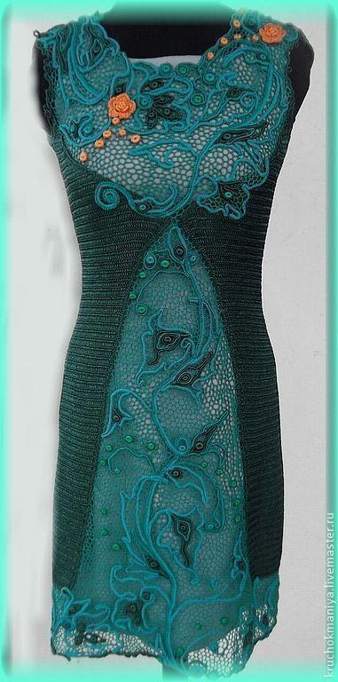 Купить или заказать платье в стиле ирландского кружева-'Цветок тролля' в интернет-магазине на Ярмарке Мастеров. Платье выполнено в технике ирландского кружева ,по мотивам платья Светланы Пушкиной'застывшая музыка'. Сдержанное и романтичное вязаное крючком платье создано для современных женщин и девушек,которые любят выделяться и подчеркивать свою индивидуальность. Креативных и активных сразу видно по стилю и настроению! Платье продается без подклада. Длина-до колена.