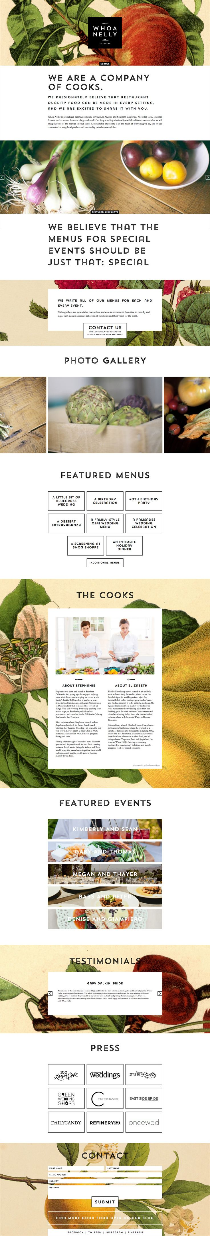 Whoa Nelly Catering website by Cody Small/Caava Design.