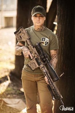 Kinessa Johnson. Former Army enlisted doing something about endangered wildlife. Girls with guns also use GunRightsAttorneys.Com