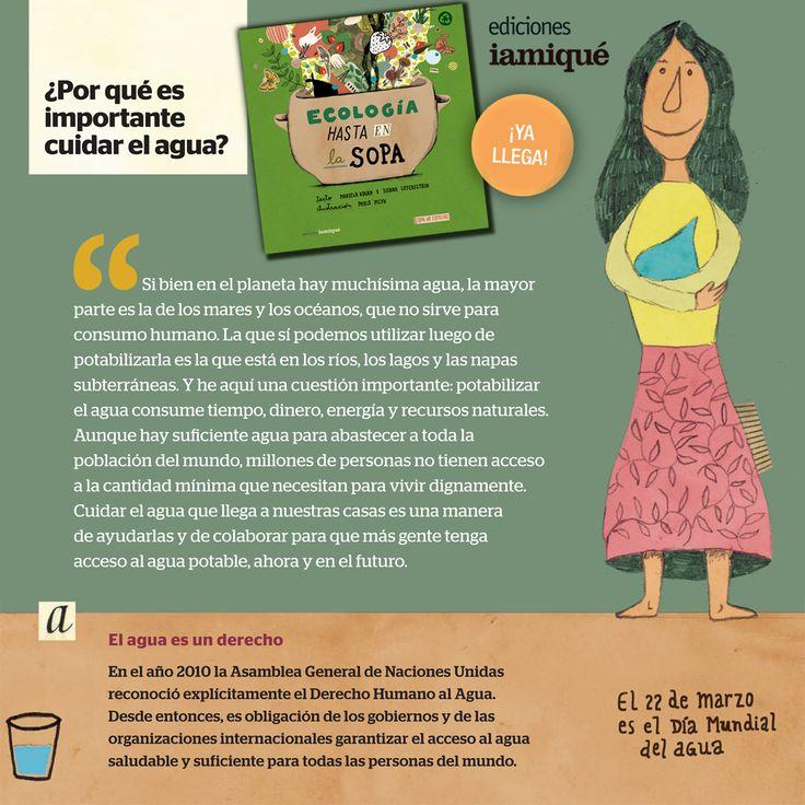 El #DíaMundialdelAgua celebra este recurso, alimento y hábitat, y promueve su cuidado! ¡#Aprender para #cuidar!  #LIJ #nuevolibro #ecología #aprenderydivertirse #agua