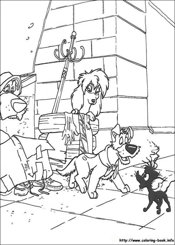 32 best Disney Oliver and Company Coloring Pages Disney images on ...
