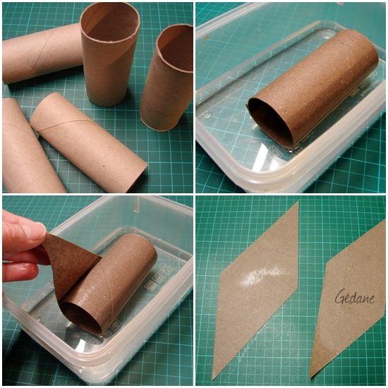 Guirlande en rouleau de papier toilette