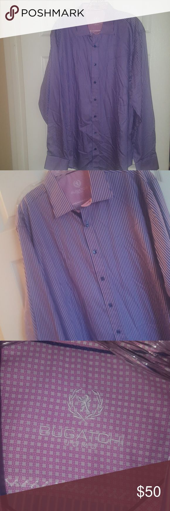 Mens Dress Shirt BRAND NEW WITH TAGS Mens Bugatchi Brand New  Dress shirt with tags attached. Never worn. Beautiful color and feel Bugatchi Shirts Dress Shirts