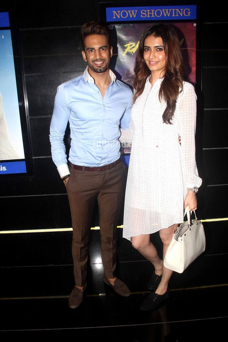Karishma Tanna and Upen Patel at 'Tere Bin Laden Dead or Alive' premiere. #Bollywood #Fashion #Style #Beauty #Hot #Sexy #Punjabi