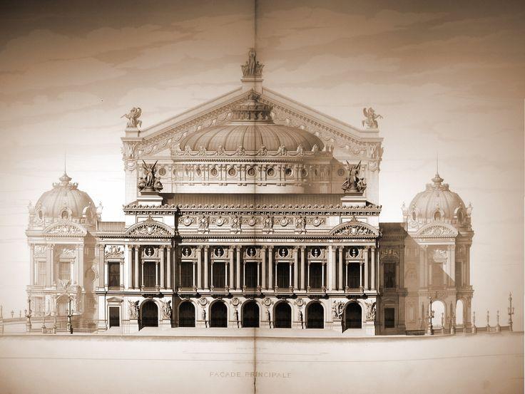 The elevation of Garnier's Opéra, Paris
