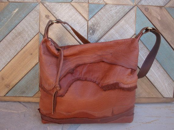 Slouchy Rustic Mahogany Brown Leather by DIamondArrowLeather