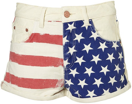 Flag Printed Hotpants