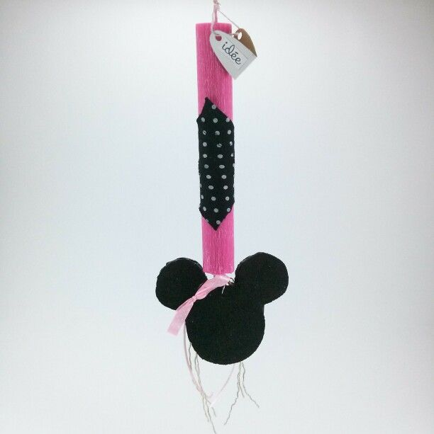 "Handmade easter candle ""Minnie mouse"" corc"