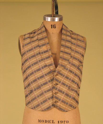 Gent's Plaid Vest, 1850-1870 - Lot 295 $373.75