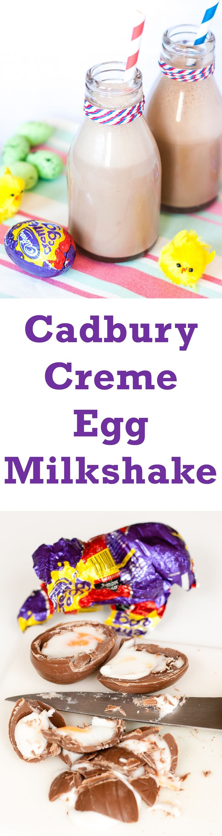 Delicious, indulgent, easy to make Cadbury Creme Egg Milkshake – perfect for a treat this Easter
