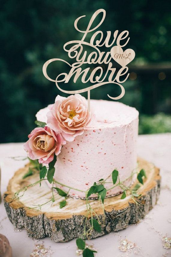 Wedding Cake Topper  Love you more Cake Topper by WeddingTopLine