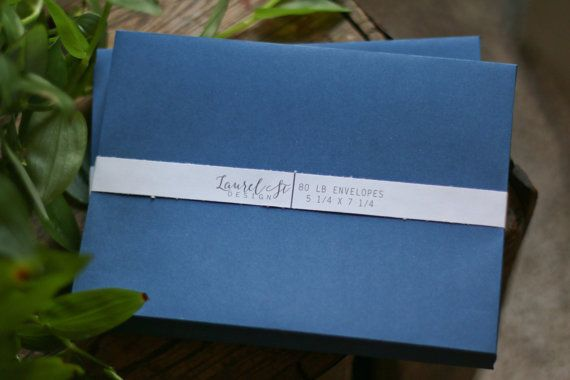 The A7 envelope in NAVY is an elegant choice. Perfect for invitations, announcements, social and business mailings, and more! Seal by convenient adhesive strip along square flap. (Note: the last image in the listing shows how both silver and gold markers look with this envelope)  SIZE: 5 1/4 x 7 1/4 133mm x 184mm  PAPER: 80 lb. LUXPaper  QUANTITY: 25  Contact me if you would like a larger qty and I can give you combined shipping pricing.